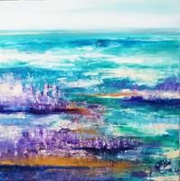 """""""Ragyogás"""" szignózott eredeti absztrakt festmény Közvetlen a művésztől!"""