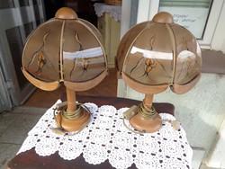 Fa asztali lámpa párban