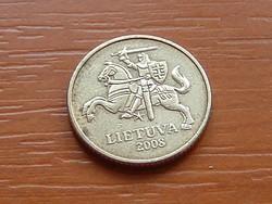 LITVÁNIA 10 CENTU 2008 #