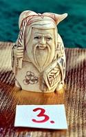 Japán antik Elefántcsont, csont Netsuke akciós áron, visszavonásig. (3)