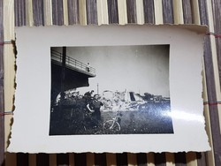 Ww2 2Vh Felrobbantott szabadkai híd! 1941 8,5x6cm