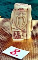 Antik, kézi faragású eredeti Csont Netsuke szobor akciós áron, visszavonásig.  (8)