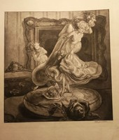 Franz von Bayros (1866--1924 ) Vielle porcelaine ) Heliogravúr.