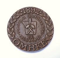 'OMBKE ,Magyar Öntőnapok' bányászati/kohászati plakett