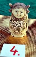 Japán antik Elefántcsont, csont Netsuke akciós áron, visszavonásig. (4)
