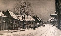 Élesdy budavári , téli rézkarca