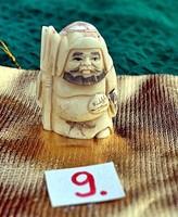 Antik, kézi faragású eredeti Csont Netsuke szobor akciós áron, visszavonásig. . (9)