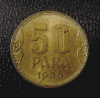 Jugoszláv Királyság 50 para 1938!