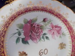 Nagyon szép rózsás falitányér