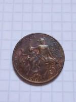 Szép 5 Centimes Franciaország 1911 !