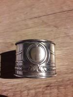 Gyönyörű ezüst szalvéta gyűrű 1900-as évek eleje