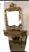 Arany tükörkonzol