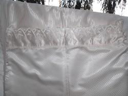 Ágynemű - exkluzív - szatén - egyik oldala pamutvászon - törtfehér - 1 paplan - párna