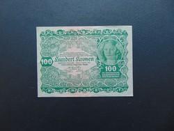 100 korona 1922 Szép ropogós bankjegy  02