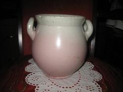 Zsolnay tároló edény ,rózsaszín árnyalatú 16 x 16 cm