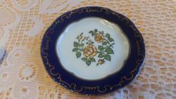 Zsolnay kék szélű virágos dísz tányér eladó!