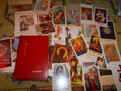Énekeskönyv-teljes kottás+ 25 db szentkép