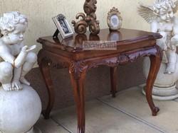 Antik bútor, felújított Bécsi Barokk asztal 03.
