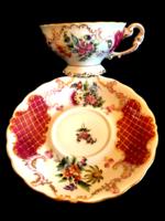 Ritka herendi barokk teás csésze + alj