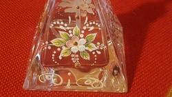 Kézi festett parfümszórós üveg ,nagyon szép
