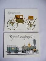 Régimódi hintók és Régimódi mozdonyok könyv