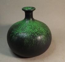 Retro gömb váza csodás zöld színben