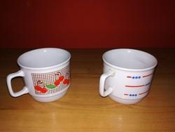 600ft, Régi Zsolnay porcelán Bögrék,teás csésze ,zöld és kék  pecsétes !