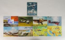 0V230 Malév képeslapok 9 darab