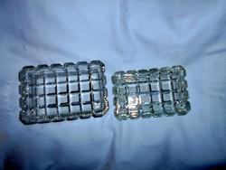 Antik csiszolt kristályüveg  doboz-szép kézműves darab