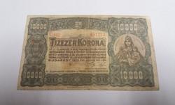 "10 000 korona 1923, ""Magyar Pénzjegynyomda Rt"""