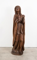 Ávilai Szent Terézt ábrázoló faragott fa szobor