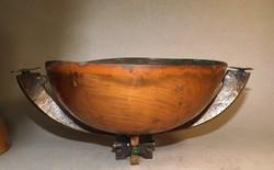 Art deco bronz asztalközép