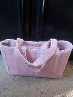 Gyöngyökből, készült rózsaszín, női táska!