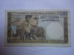 Extra szép ritka 500 Dínár 1941 !!