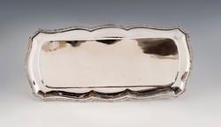 Ezüst palmettás díszítésű tálca