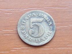 JUGOSZLÁVIA 5 PARA 1973