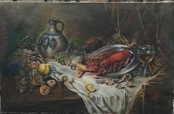 Újházy Ferenc: Antik csendélet homárral