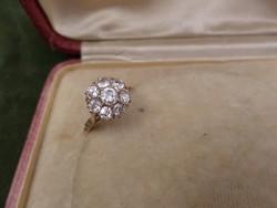 Brilles karmazált vörös arany gyűrű