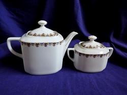 Victoria árvácskás teáskanna és cukortartó