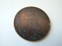 Dix Centimes III. Napoleon 1854 D R!
