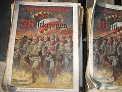 Első világháborús német újság első 100 példánya 20.000 Ft