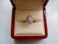 Csodásan  csillogó antik ezüst gyűrű