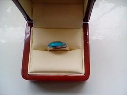 Türkiz köves ezüst gyűrű(17)