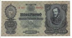 20 pengő 1930 Hajtatlan II.
