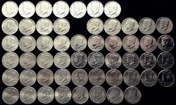 USA half dollár Kennedy - teljes sorozat 1964 - 2018