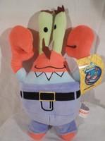Plüss - ÚJ - NAGY  - Sponge Bob - Mr. Krabs 26 x 18 cm