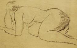 Női akt,szén rajz