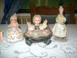 Régi népviseletes baba - három darab