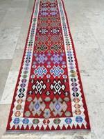 Iráni Qashqai kilim futószőnyeg.300x65cm
