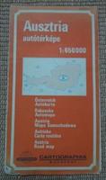 Ausztria autótérképe, 1988 (osztrák térkép)